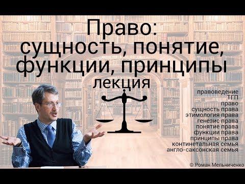 Право: сущность, понятие, функции, принципы