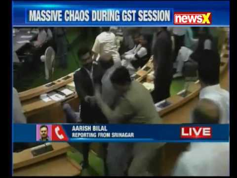 Massive ruckus inside Jammu and Kashmir Assembly during special session on GST