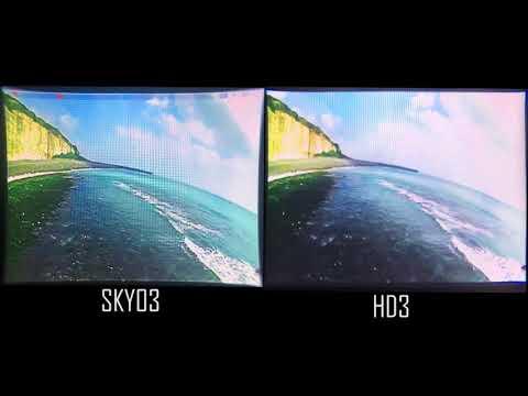 Skyzone SKY03 vs. Fatshark HD3 FPV Goggles Screen Display Comparison