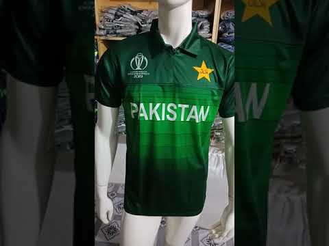 Pakistani cricket team new kit-jersey-shirt world cup 2019