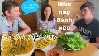 Ăn Bánh xèo, hai cha con ngạc nhiên | nấu món ăn Việt | ẩm thực Việt Nam | cuộc sống ở Đức