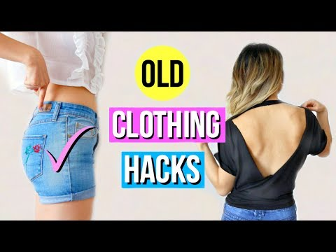 6 DIY Clothing Hacks To Try When You're Bored!. http://bit.ly/2GPkyb3