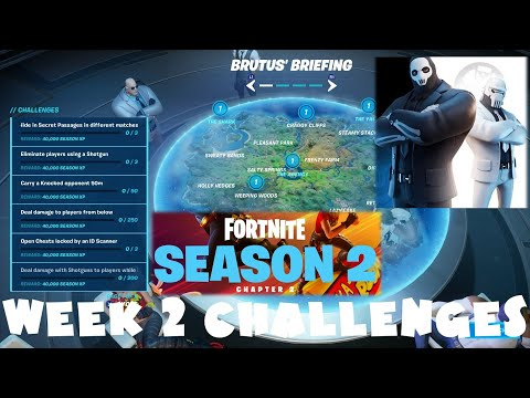 *NEW* ALL Week 2 Challenges Guide - Season 2 Chapter 2 - Fortnite Battle Royale
