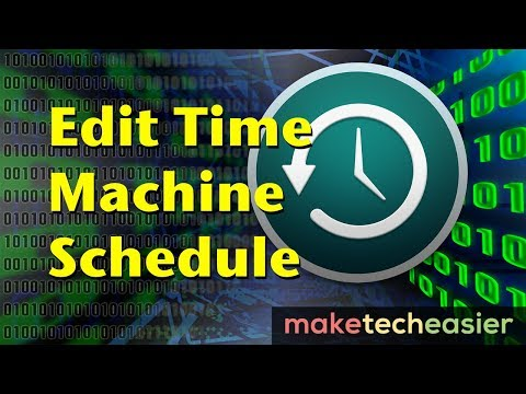 How to Modify the Time Machine Backup Schedule for Mac