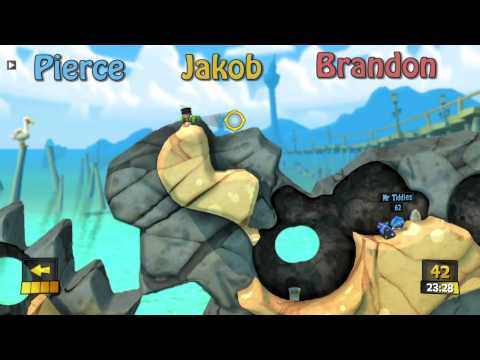 Worms Revolution | Play some games | Pierce, Jakob and Brandon |