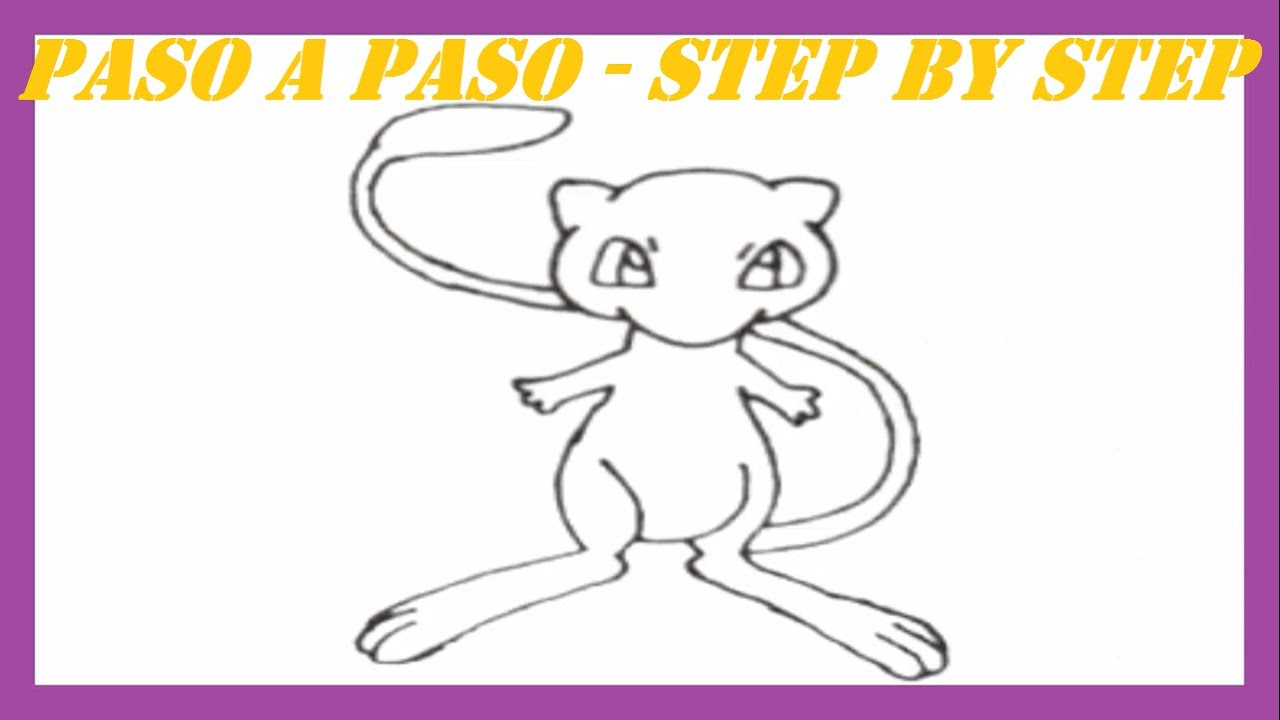 Como Dibujar A Mew Pokémon Legendario L How To Draw A Legendary