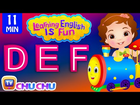Learning English Is Fun™ | DEF Songs | ChuChu TV Phonics & Words Learning For Preschool Children