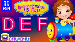 Learning English Is Fun™ | DEF Songs | ChuChu TV Phonics & Words Learning For Preschool Children Mp3