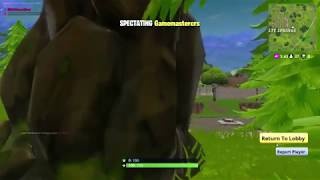 Fortnite hacker, aim bot, wall hack. Banhammer inc