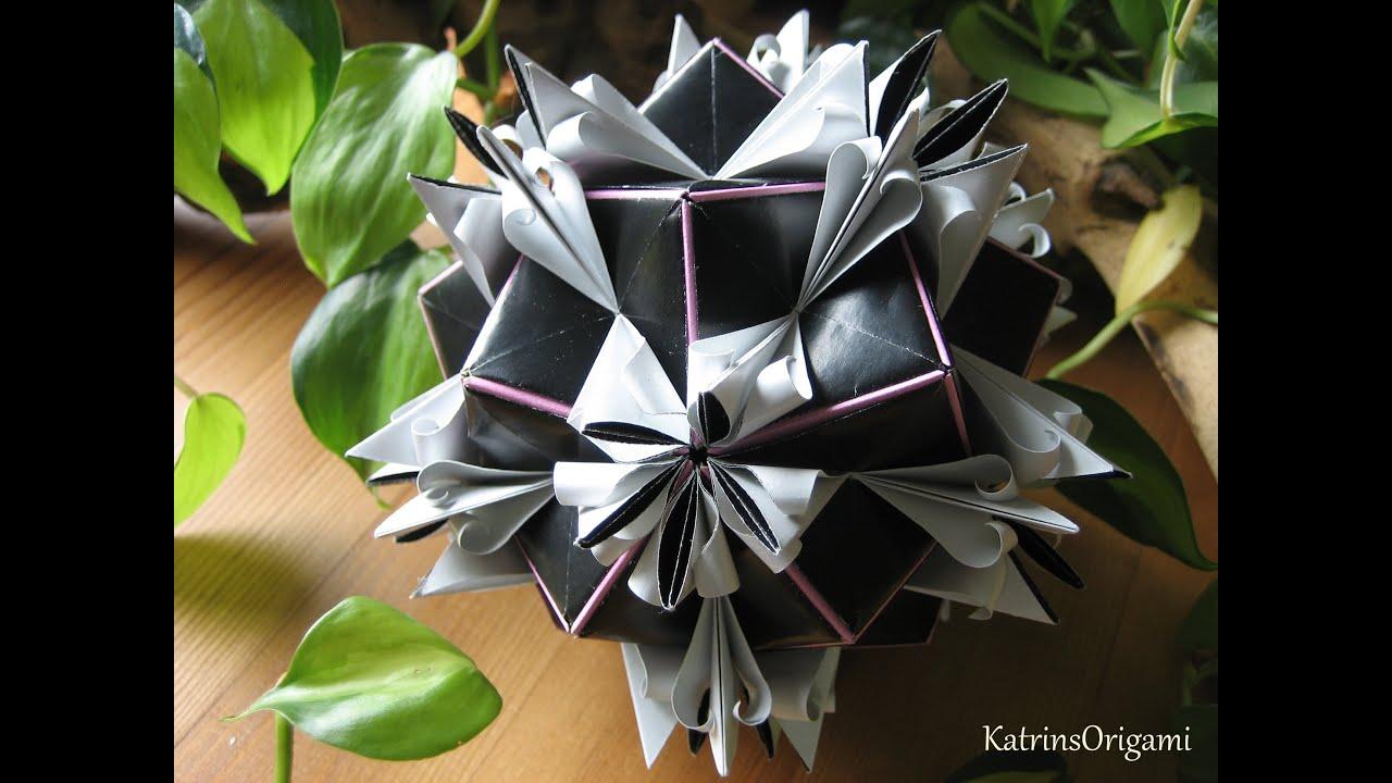 Origami Royal Lily Kusudama Youtube