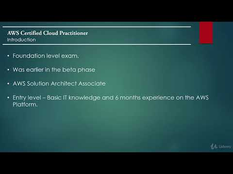 AWS Certified Cloud Practitioner : Introduction