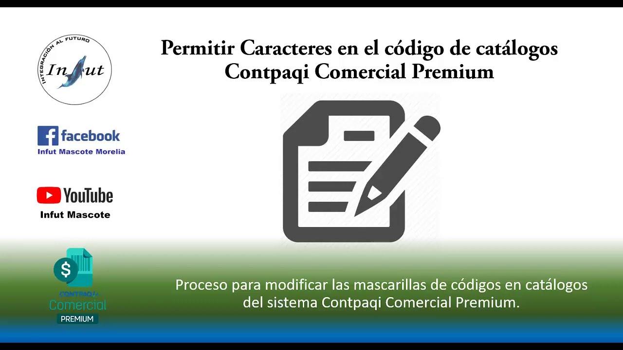 Permitir caracteres en código de catálogos Comercial Premium