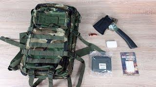 Survival Rucksack mit Zubehör -  Was ist da alles drin? Outdoor Set im Unboxing! (Militär)
