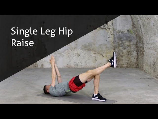 Single Leg Hip Raise - hoe voer ik deze oefening goed uit?