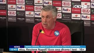 Europa League, Napoli-Arsenal: Carlo Ancelotti e José Callejon in conferenza