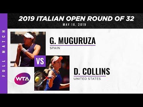 Garbiñe Muguruza vs. Danielle Collins   Full Match   2019 Italian Open Round of 32