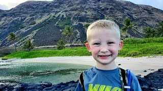 20 Mile Hike on Remote Tropical Volcano - Extreme Backcountry Camping & Backpacking with 6 yr old