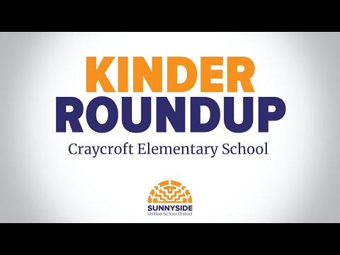 Kinder Roundup: Craycroft Elementary School