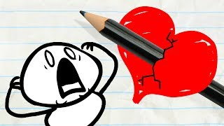 Will Pencilmate Ever Find True Love? -in- Pencilmation VALENTINE'S DAY Compilation for Kids