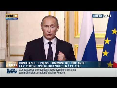 Conférence de presse Poutine Hollande - 01-06-2012