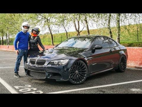 Drifting my BMW M3 with my Girlfriend! [Sub ENG]