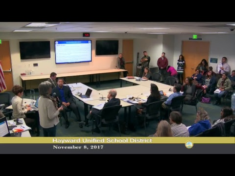 Hayward Unified School District budget workshop 2a meeting 11-8-2017
