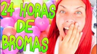 24 HORAS DE BROMAS A MUCHOS YOUTUBERS