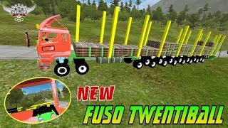 REVIEW  Mod Truk Fuso TwentiBall Super Long Chasis    Bussid Mod Indonesia