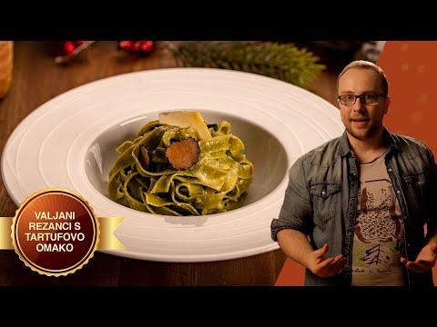 Špinačni valjani rezanci s tartufovo omako