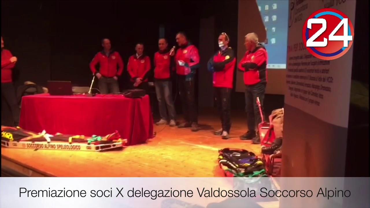 Premiazione soci X delegazione Valdossola Soccorso Alpino