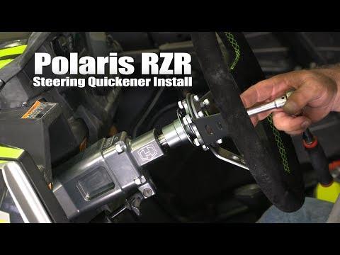 Polaris RZR Steering Quickener Install 4K