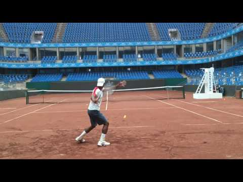 Imad Amer tennis at center court istanbul TEB part 2