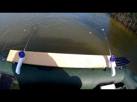 """Рыбалка с лодки бортовыми удочками.Уловистая снасть """"ЯЙЦА"""""""
