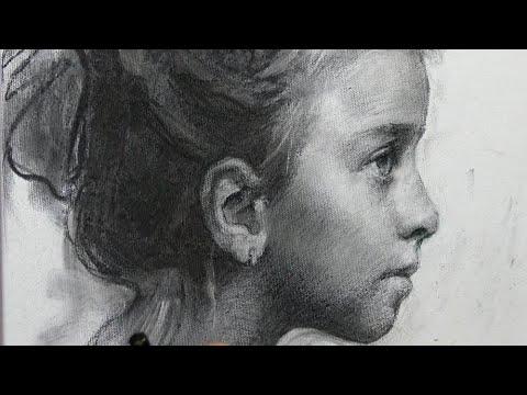 Портрет углем видеоурок