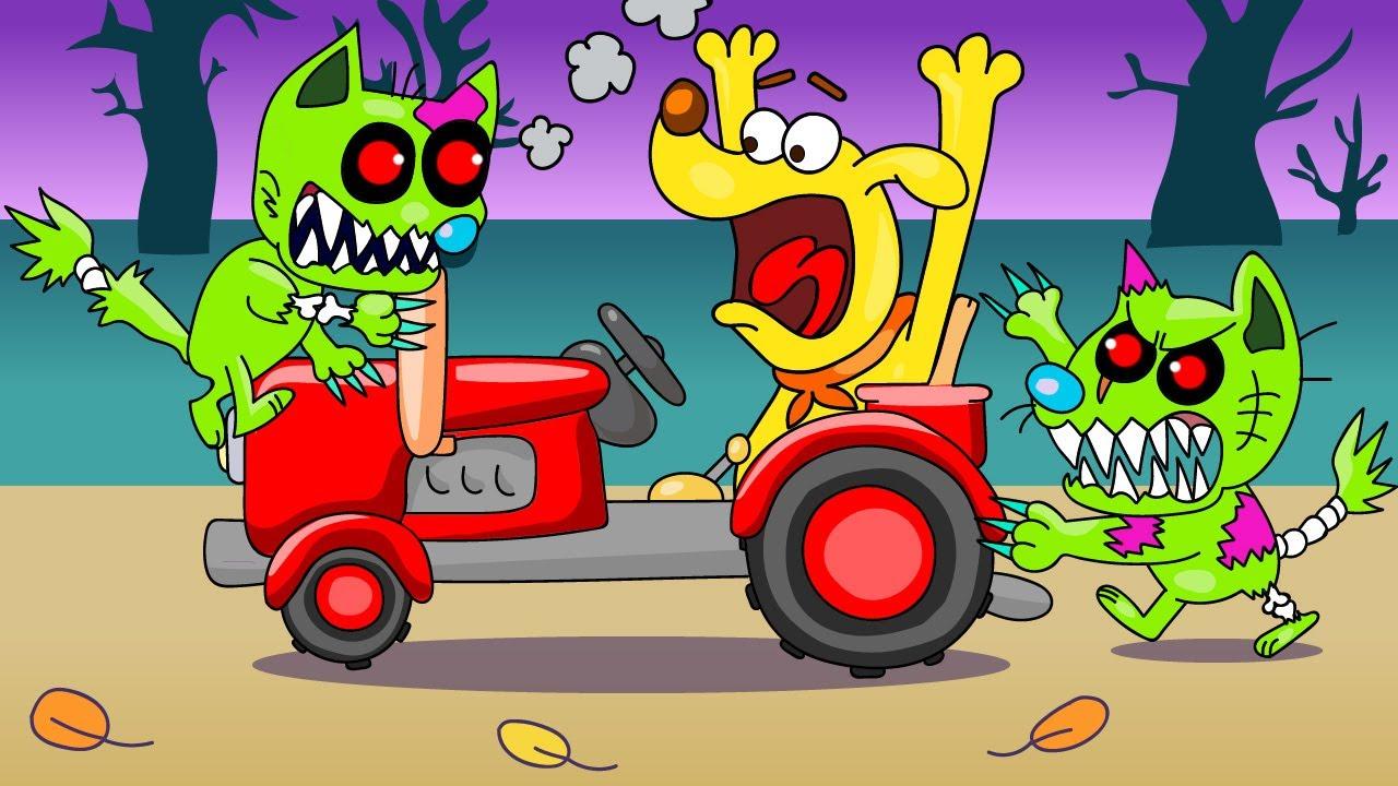 Кот зомби мультик