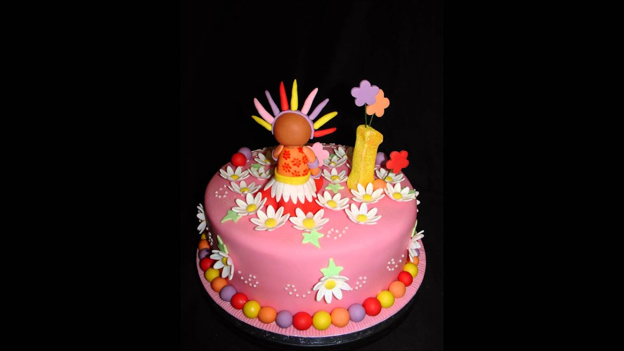 Upsy Daisy Cake Decoration : Upsy Daisy Fondant Cake - YouTube