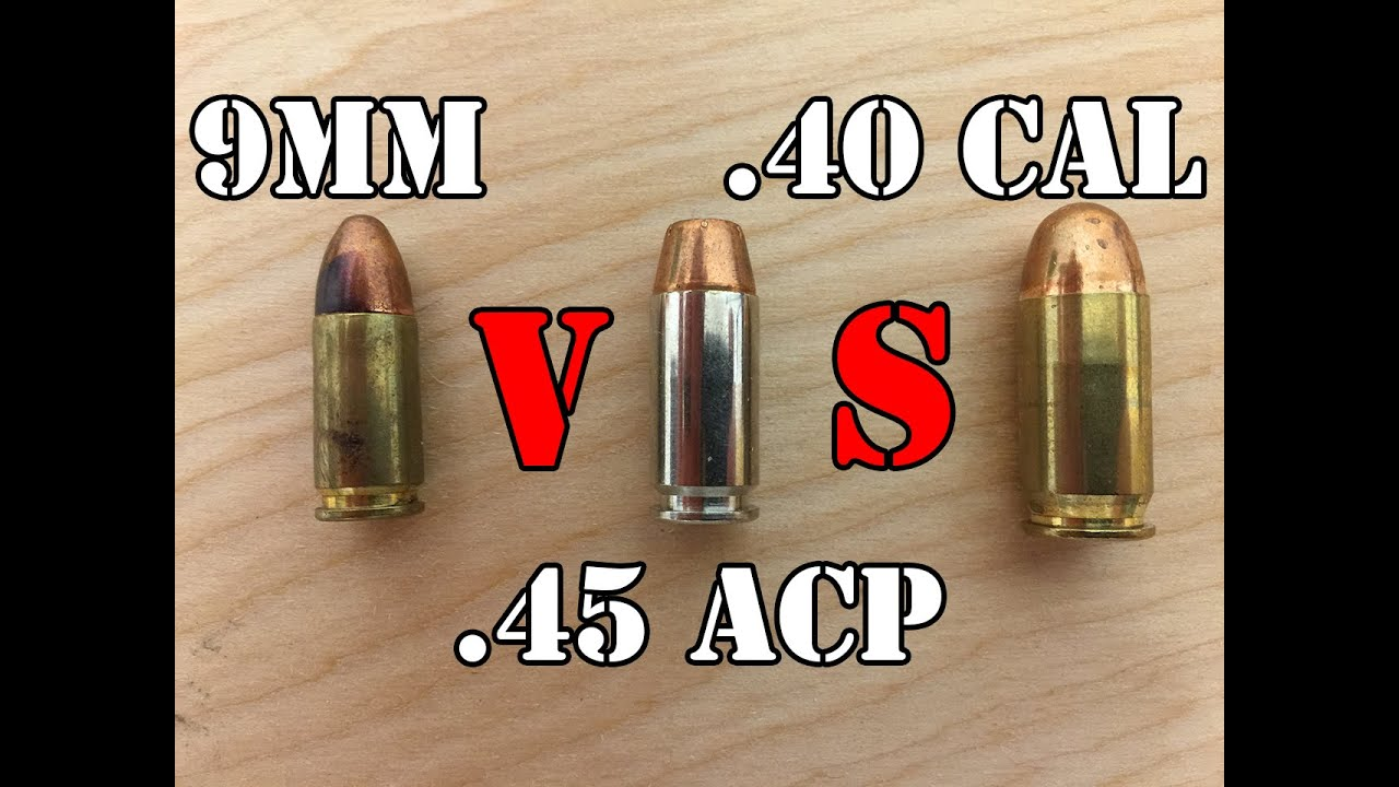 Difference 9mm 45 Size 40