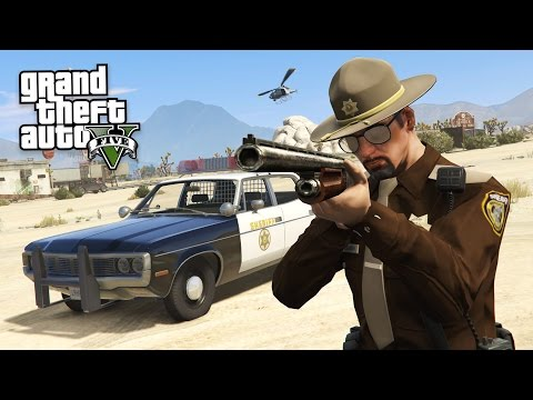 GTA 5 PLAY AS A COP MOD - SHERIFF POLICE...