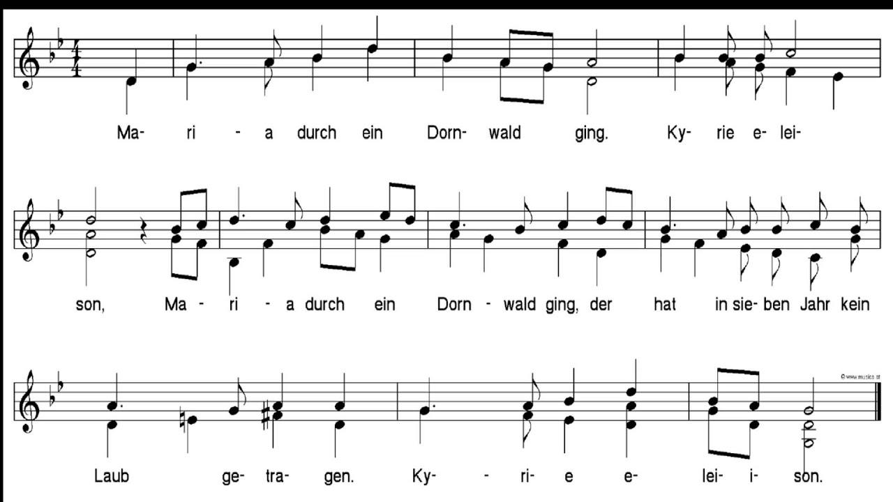 Weihnachtslieder Gesang.Weihnachtslieder Maria Durch Ein Dornwald Ging Gesang Duett