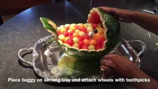 How to make this cute WATERMELON  BUGGY with WATERMELON WHEELS