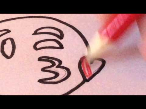 How To Draw The Blowing Kiss Emoji