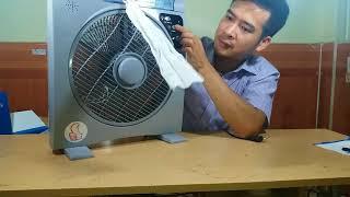 Quạt tích điện 8h panasonic thổi bay nỗi lo mất điện | Gia Dụng Tuyết Kỳ