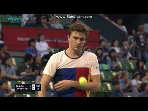 Kevin Anderson vs Gilles Simon  -  Rakuten Japan Open 2017 R1 Highlights HD