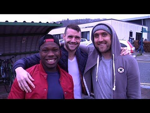 Nigel Hasselbaink, James Dunne and Lee Croft present Saints TV
