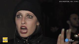 Weird Satanist Girl