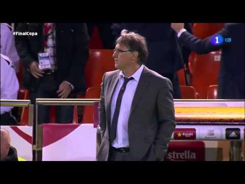 TATA MARTINO extenuado - Final Copa del Rey 2014 - REAL MADRID 2-1 BARCELONA