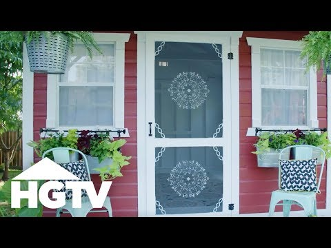 How to Dress Up a Plain Screen Door - HGTV