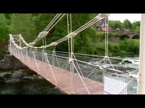 Llangollen - Opening of the restored Chain Bridge