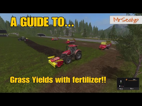 Farming Simulator 17 PS4: A Guide to... Grass Yields with fertilizer!!