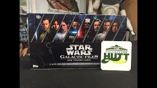 Topps: Star Wars Galactic Files 2018 Trading Cards Box Break #1 (Hobby Box)